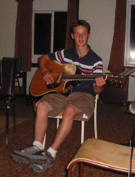 Trent on Guitar